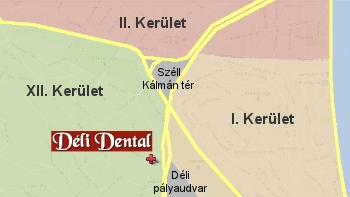 Déli Dentál fogászati rendelő megközelítése